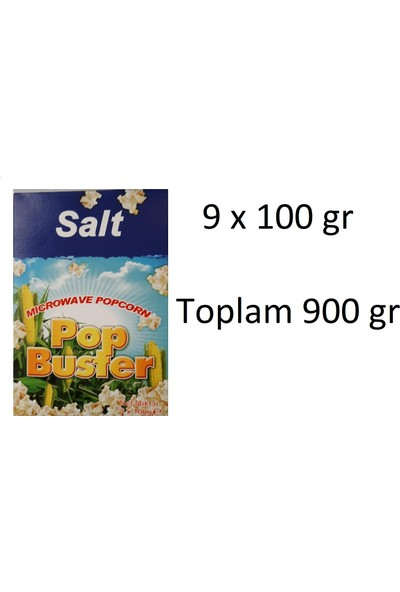 Pop Buster Mikdodalgada Patlamış Mısır 9 x 100 gr