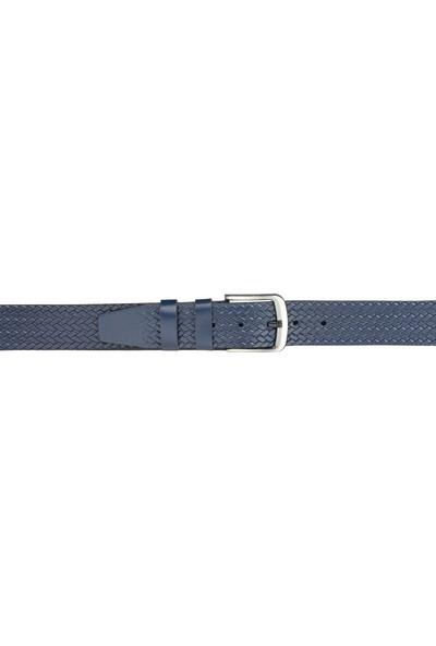 Deriza Firax Lacivert Deri Kot Kemeri 110 cm