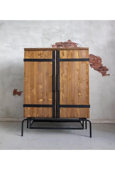 Deryawood Masif Ahşap Büfe 120 cm