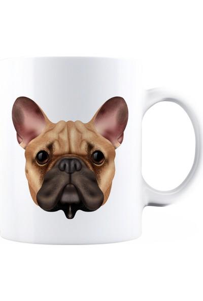 BaskimBurada Beyaz Kupa Kişiye Özel Realistic Dog Breed BBKB00026