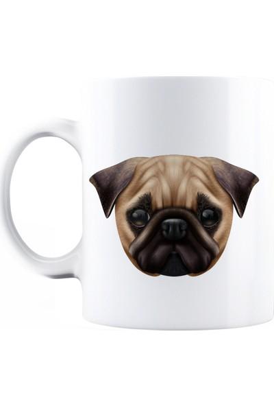 BaskimBurada Beyaz Kupa Kişiye Özel Realistic Dog Breed BBKB00029