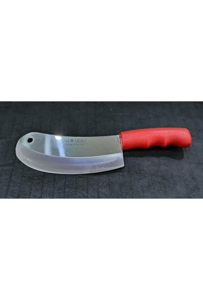 Ali Umuş Kırmızı Plastik Sap Soğan - Börek - Pide - Salata Bıçağı Satırı