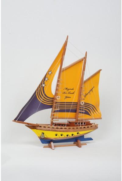 Yiğitoğlu Design Ahşap Büyük Boy Gemi Maketi F