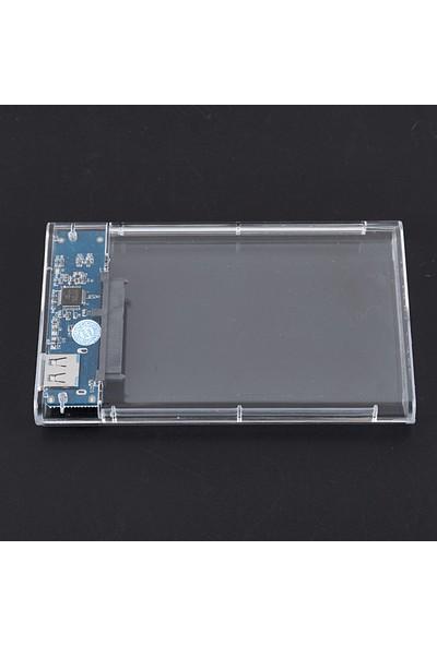 "TriLine Şeffaf 2.5"" Sata SSD USB 3.0 Harici Slim Harddisk Kutusu"