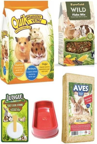 Quik Hamster Yem Talaş Yem Katkısı Yalama Taşı Seti 500 gr