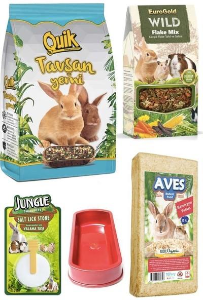 Quik Tavşan Yem Talaş Yem Katkısı Yalama Taşı Seti 750 gr