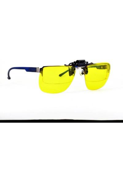 Sebago Polarize Sarı Antifar Gece Görüş Sürüş Güneş Gözlük Klipsi