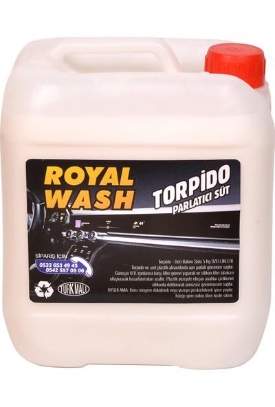 Royalwash Torpido ve Tampon Parlatıcı Süt 5 Kg + Uygulama Süngeri