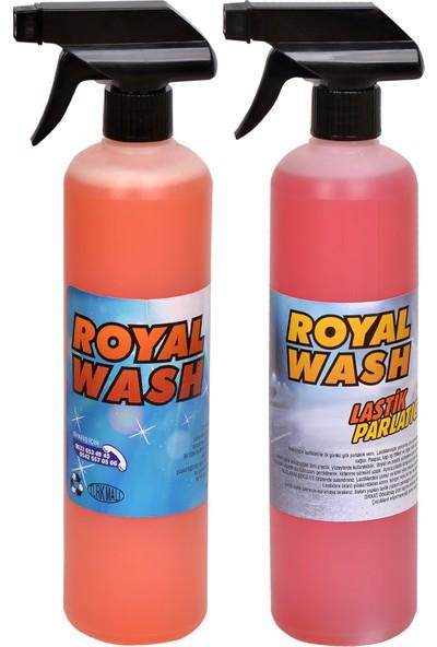 Royalwash Lastik Parlatıcı + Hızlı Cila 2'li Set