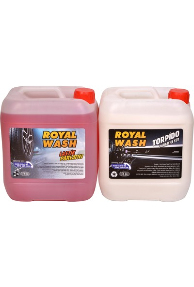 Royalwash Torpido Parlatıcı + Lastik Parlatıcı 2'li Set