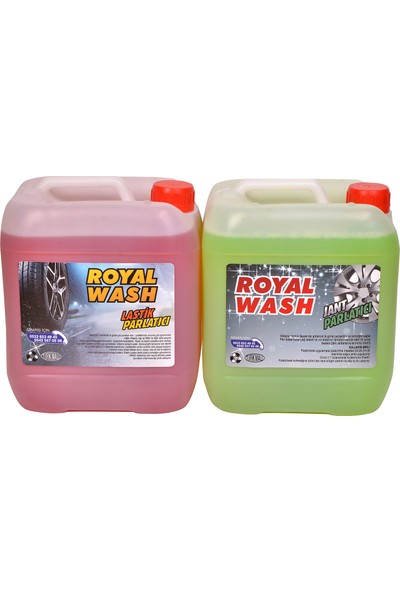 Royalwash Jant Parlatıcı + Lastik Parlatıcı 2'li Set