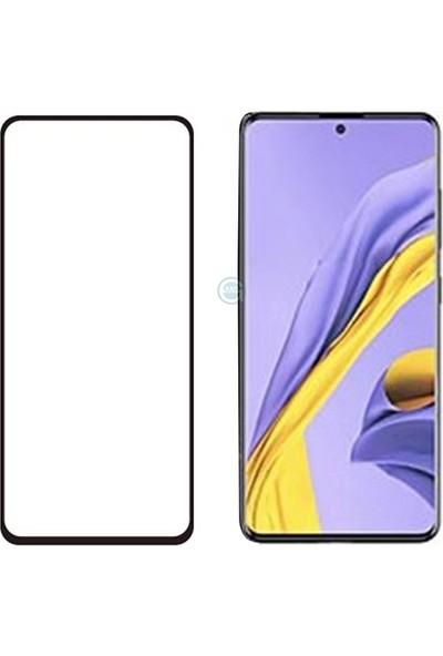 KNY Samsung Galaxy Note 10 Lite Kenarı 5D Cam Ekran Koruyucu SiyahSiyah