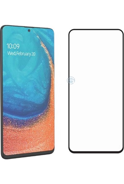 KNY Samsung Galaxy S10 Lite Kenarı 5D Cam Ekran Koruyucu SiyahSiyah