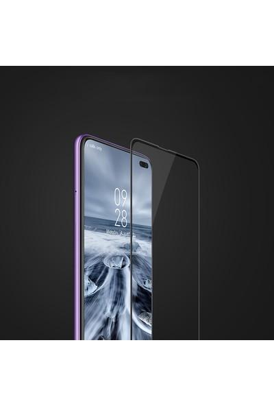 KNY Xiaomi Redmi K30 Full Yapışan Esnek Fiber Nano Cam Ekran Koruyucu Siyah
