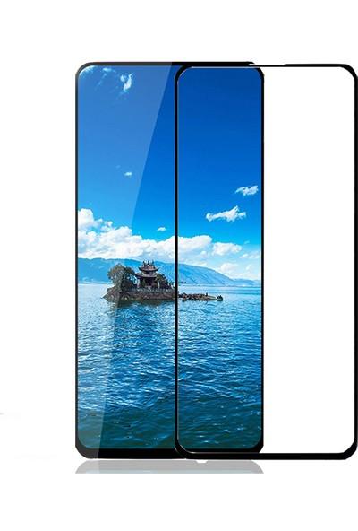 KNY Huawei P Smart Pro Full Yapışan Esnek Fiber Nano Cam Ekran Koruyucu Siyah