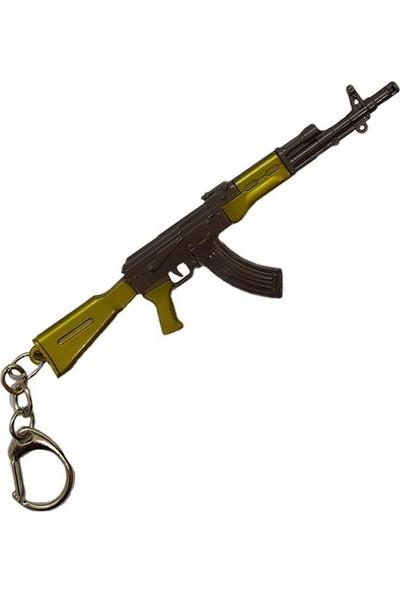 AlpCollection Pubg Fortnite Sarı AKM Silah Metal Anahtarlık