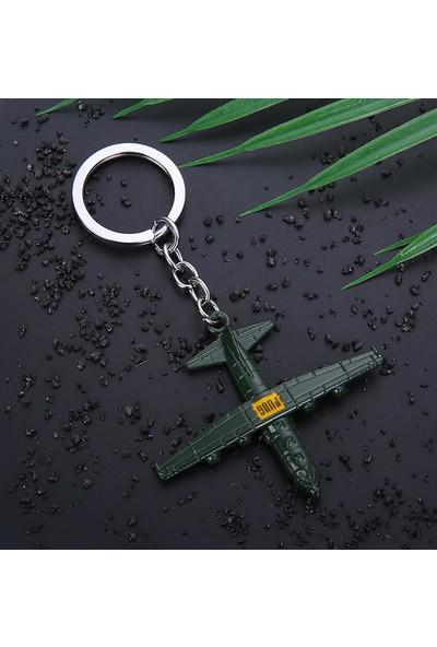 AlpCollection Pubg Fortnite Uçak Metal Silah Tabanca Anahtarlık