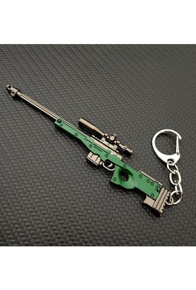 AlpCollection Pubg Fortnite AWM Silah Tabanca Metal Anahtarlık