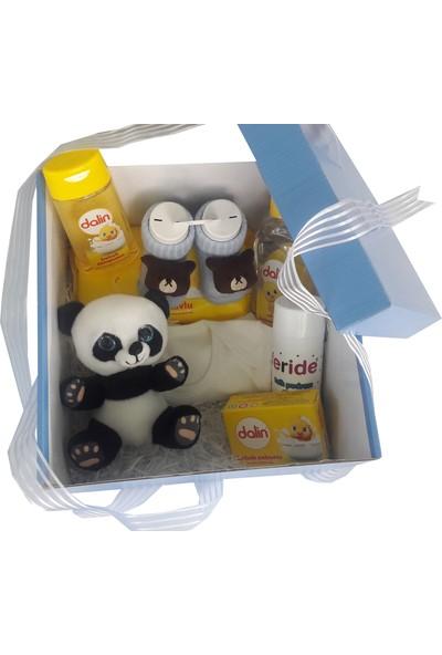 Pandalı Bebek Hediyelik Kutusu Bebek Hediye Seti