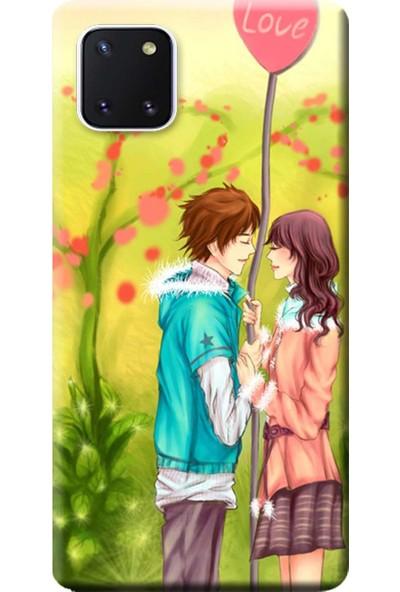 Kılıf Merkezi Samsung Galaxy A81 Kılıf SM-A815F Baskılı Silikon Love Anime STK:308