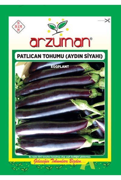 Arzuman Sebze Patlıcan Tohum Aydın Siyah 25 gr