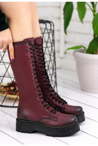 Pirmoda Eletra Bordo Cilt Çizme
