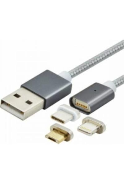 Swiss Charger Scc-10008 3in1 Şarj Ve Data Kablosu 1.5 mt