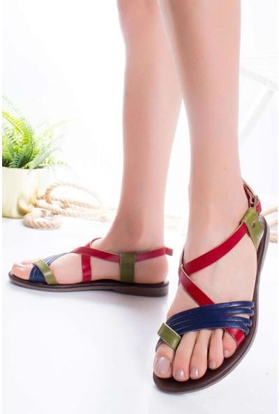 Ayakkabı Frekansı Kadın Bluma Deri Sandalet Mix