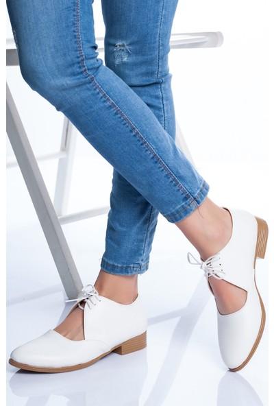 Ayakkabı Frekansı Kadın Kevon Babet Ayakkabı Beyaz