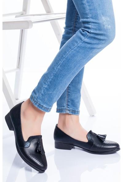 Ayakkabı Frekansı Kadın Logan Babet Ayakkabı Siyah