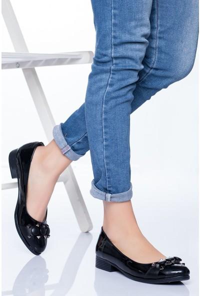 Ayakkabı Frekansı Kadın Lucy Babet Ayakkabı Siyah Rugan