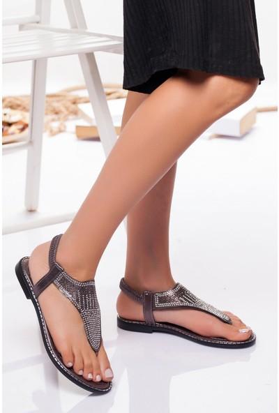 Ayakkabı Frekansı Kadın Noks Sandalet Platin