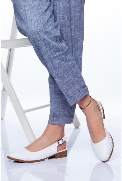 Ayakkabı Frekansı Kadın Raina Babet Ayakkabı Beyaz