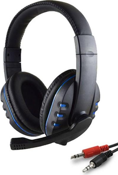 Zabata Mikrofonlu Oyuncu Kulaklığı - Siyah - Mavi