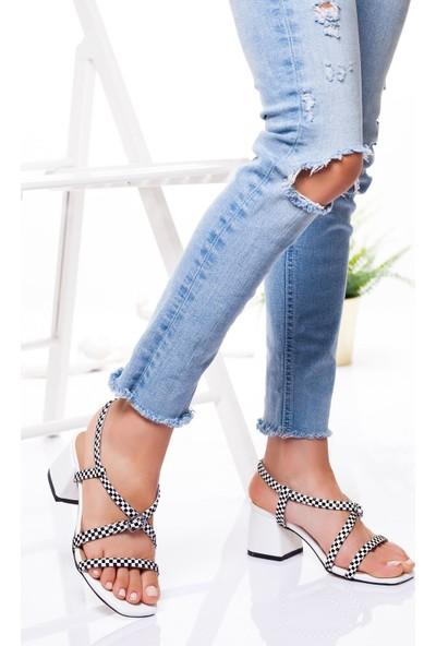 Ayakkabı Frekansı Kadın Calisto Topuklu Ayakkabı Beyaz