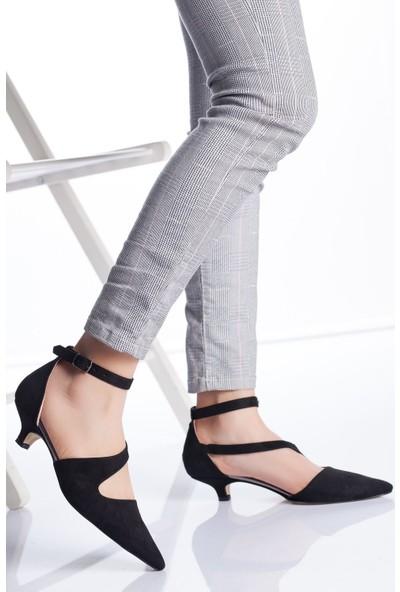 Ayakkabı Frekansı Kadın Costa Topuklu Ayakkabı Siyah Süet