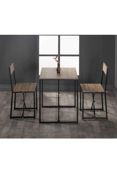 Cafe Masası Yemek Masası 2 Kişilik Masa Takımı 5135