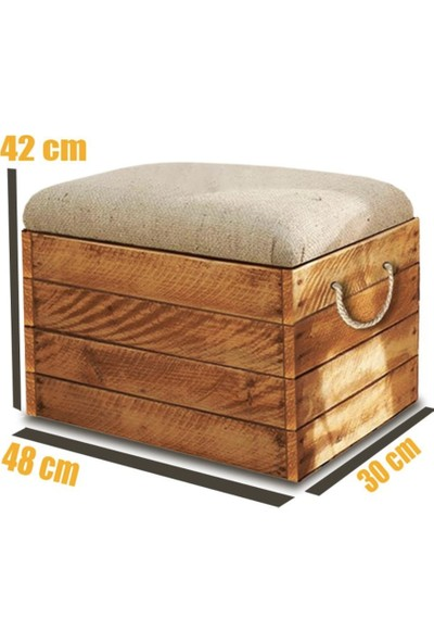 Weblonya Ahşap Puf Bench