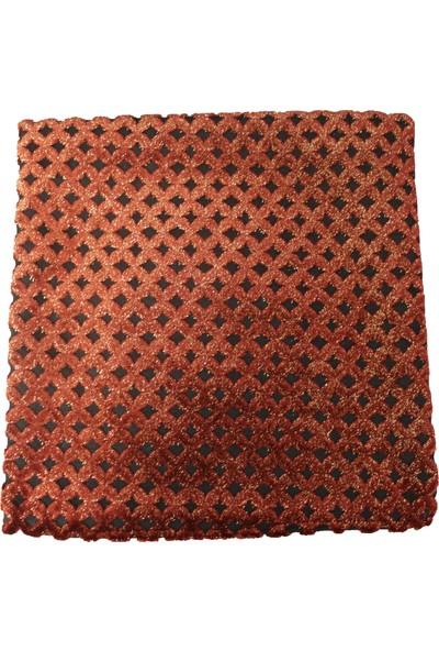 Mut Design Kırmızı Baklava Yaldızlı Desen Kırlent Yastık