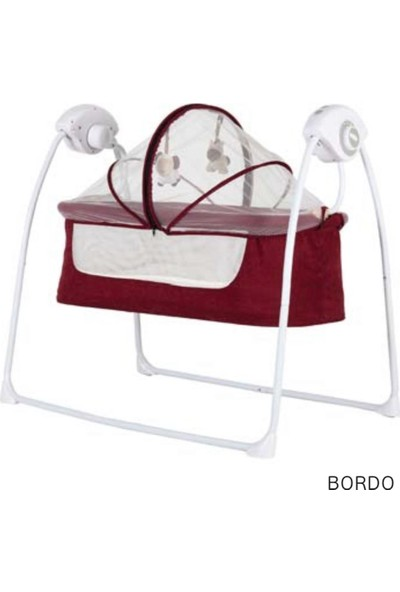 Moda Bebek Carretta Otomotik Sallanır Beşik - Bordo