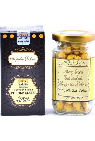 Salpin Muz Özlü Çikolatalı Propolis Şekeri 25 gr