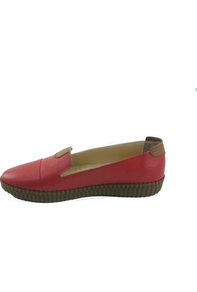 Chic Foots Deri Kadın Ayakkabı Babet