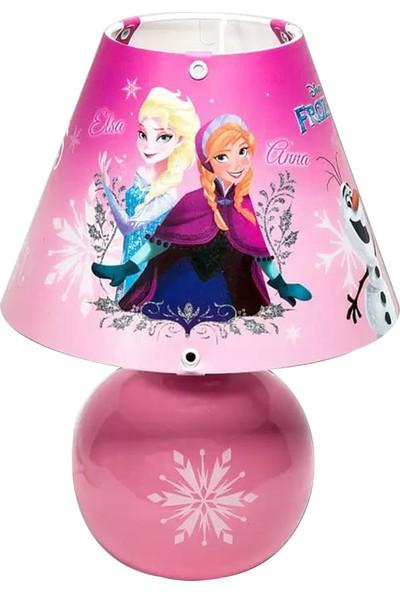 Disney Lisanslı Çocuk Odası Frozen Elsa Abajur Gece Lambası Çocuk Odası Aydınlatma