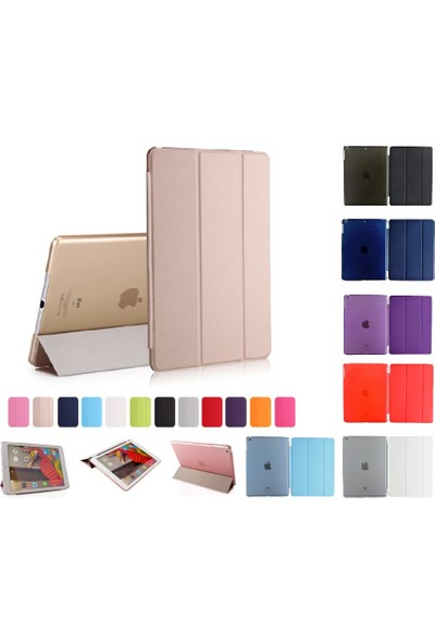 "Essleena Apple Kılıf Seti iPad Air 2 (2014 Sonu) 9.7"" Smart Kılıf+Kalem+Şarj Kablosu (A1566/A1667) - Gold"