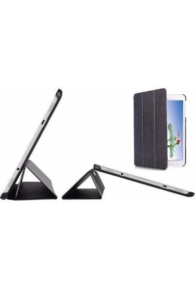 """Essleena Samsung Kılıf Seti Galaxy Tab S4 Sm-T830/T835 10.5"""" Smart Kılıf+Kalem+9H Cam - Gri"""