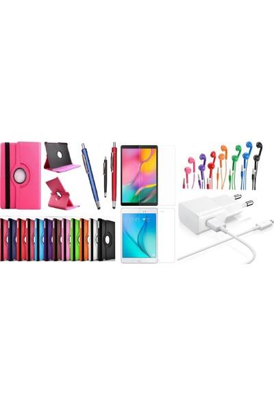"""Essleena Samsung Kılıf Seti Galaxy Tab S4 Sm-T830/T835 10.5"""" Dönebilen Kılıf+Kalem+9H Cam+Şarj Seti+Kulaklık - Gri"""