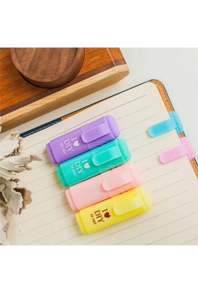 Marla Mini Fosforlu Kalem 6'lı Kilitli Poşet