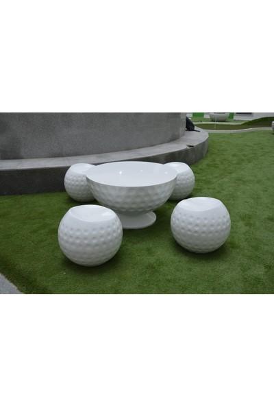 MiniGolf35 Golf Topu Dekorlu Tabure