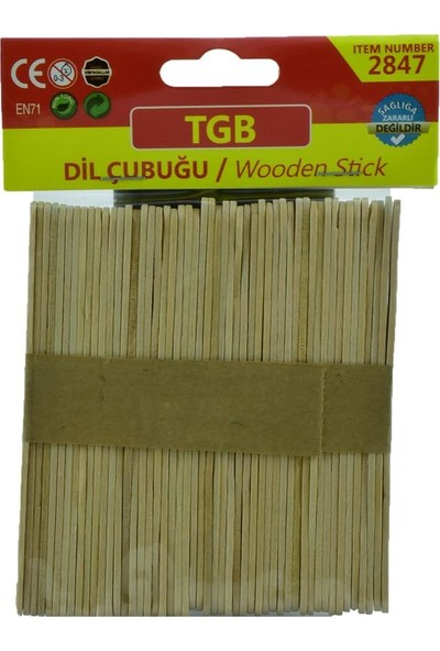 Tgb İnce Dil Çubuğu 50'li TGB-2847
