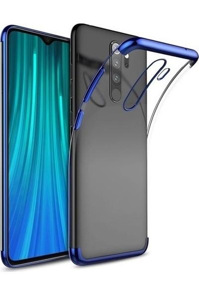 Fujimax Xiaomi Redmi K30 Dört Köşeli Lazer Silikon + Tam Kapatan Temperli Ekran Koruycu - Mavi